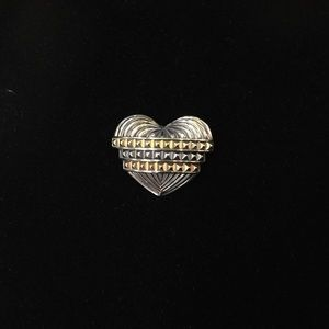 Lagos 18kt Tri Color and Sterling Silver Heart Pin